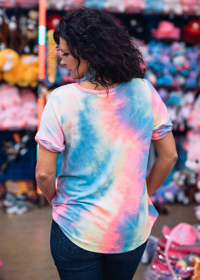 Entro Tie Dye Cotton Candy Top