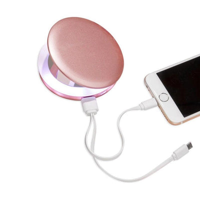 Funky Rico Accessories Compact Mirror Charger-Rose Gold