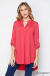 Honey Me Dressy Gabby Top - Coral