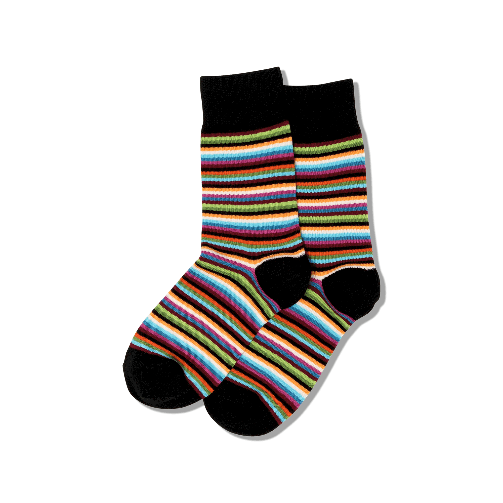 HotSox Socks Classic Stripe-Black-Tan