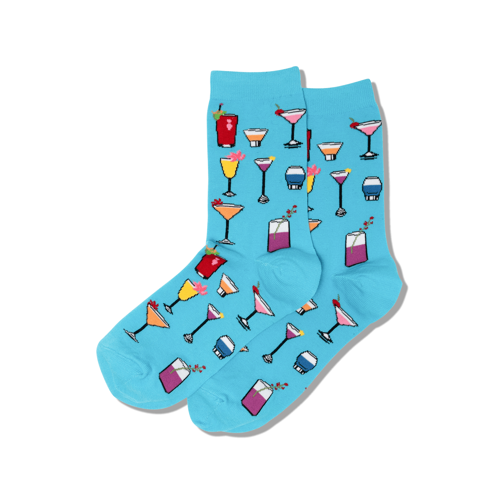 HotSox Socks Cocktails-Turquoise