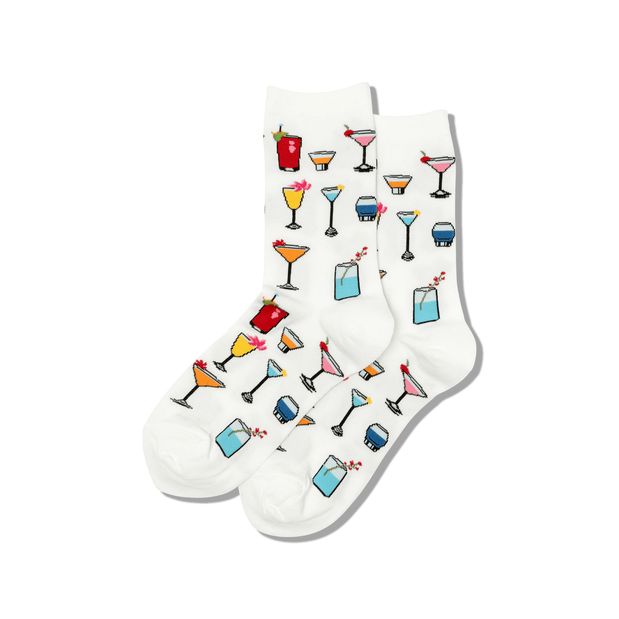 HotSox Socks Cocktails-White