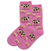 HotSox Socks Pigs-Pink-Denim