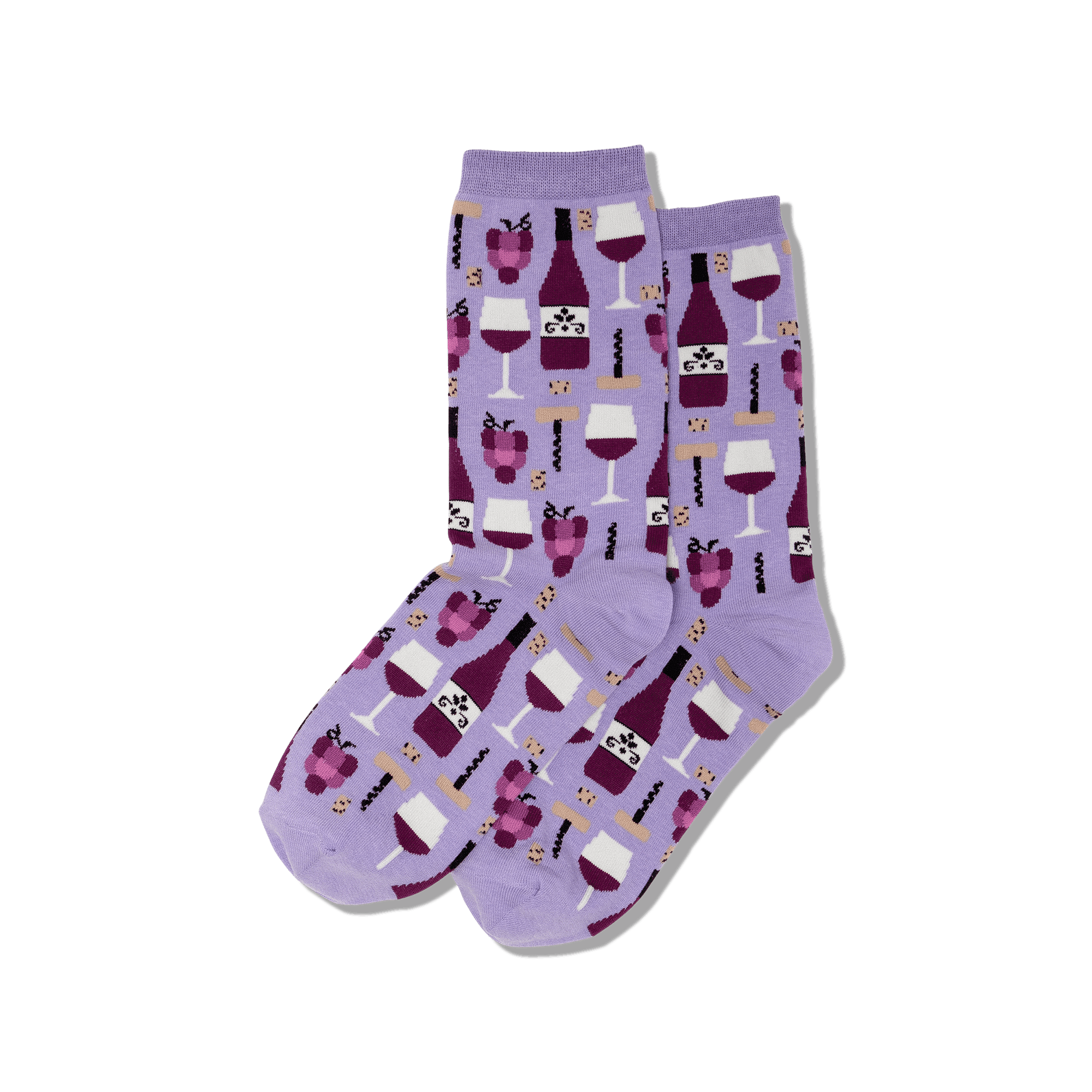 Wine Socks-Purple