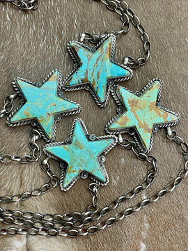 You're a Star Turquoise Pendant Necklace