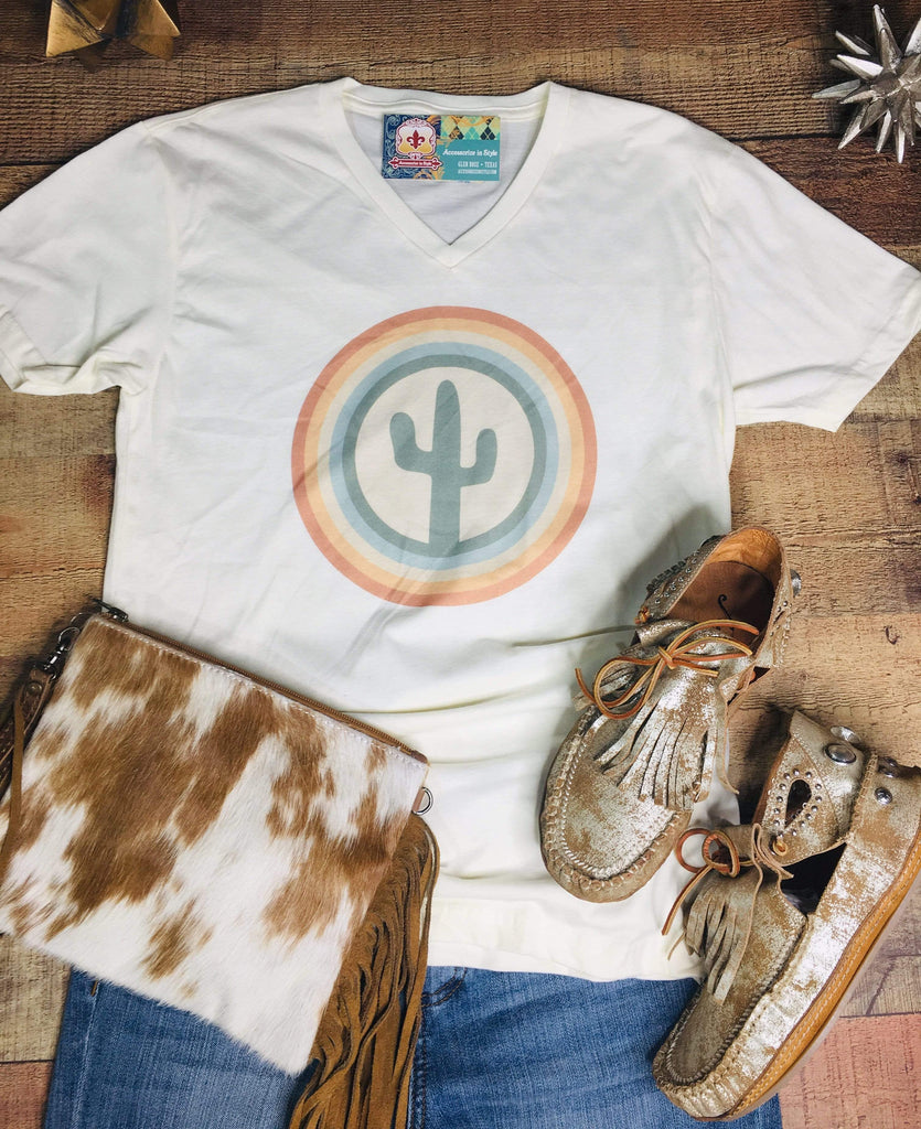 J. Forks Graphic Tees Cactus Bulls Eye T-shirt