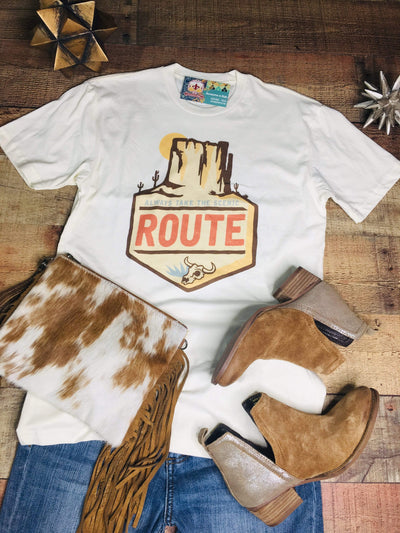 J. Forks Graphic Tees Scenic Route T-shirt