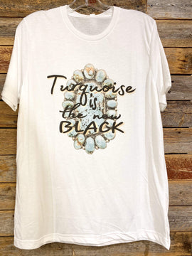 Turquoise is the new Black Tee