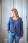 Jodifl Casual M Heather Grey Chenille Twist Sweater