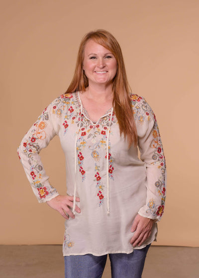 Johnny Was Dressy Autumn Bloom Tunic