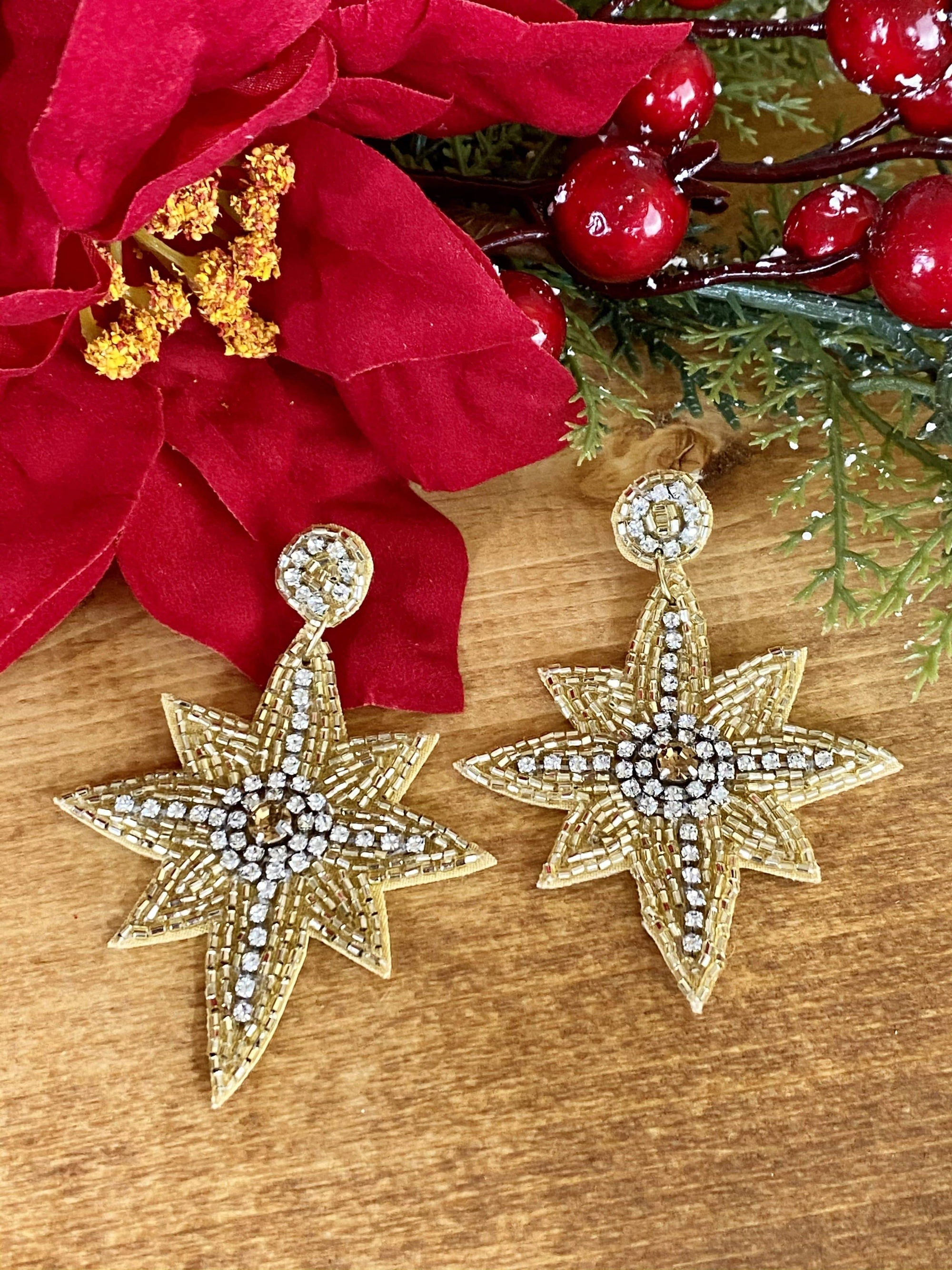 Joia Fashion Earrings North Star Fashion Gold Earrings