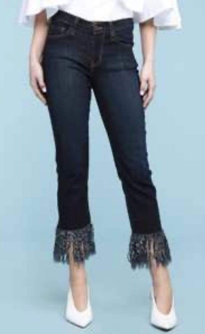 Judy Blue Capris Frayed Hem Straight Crop- Dark