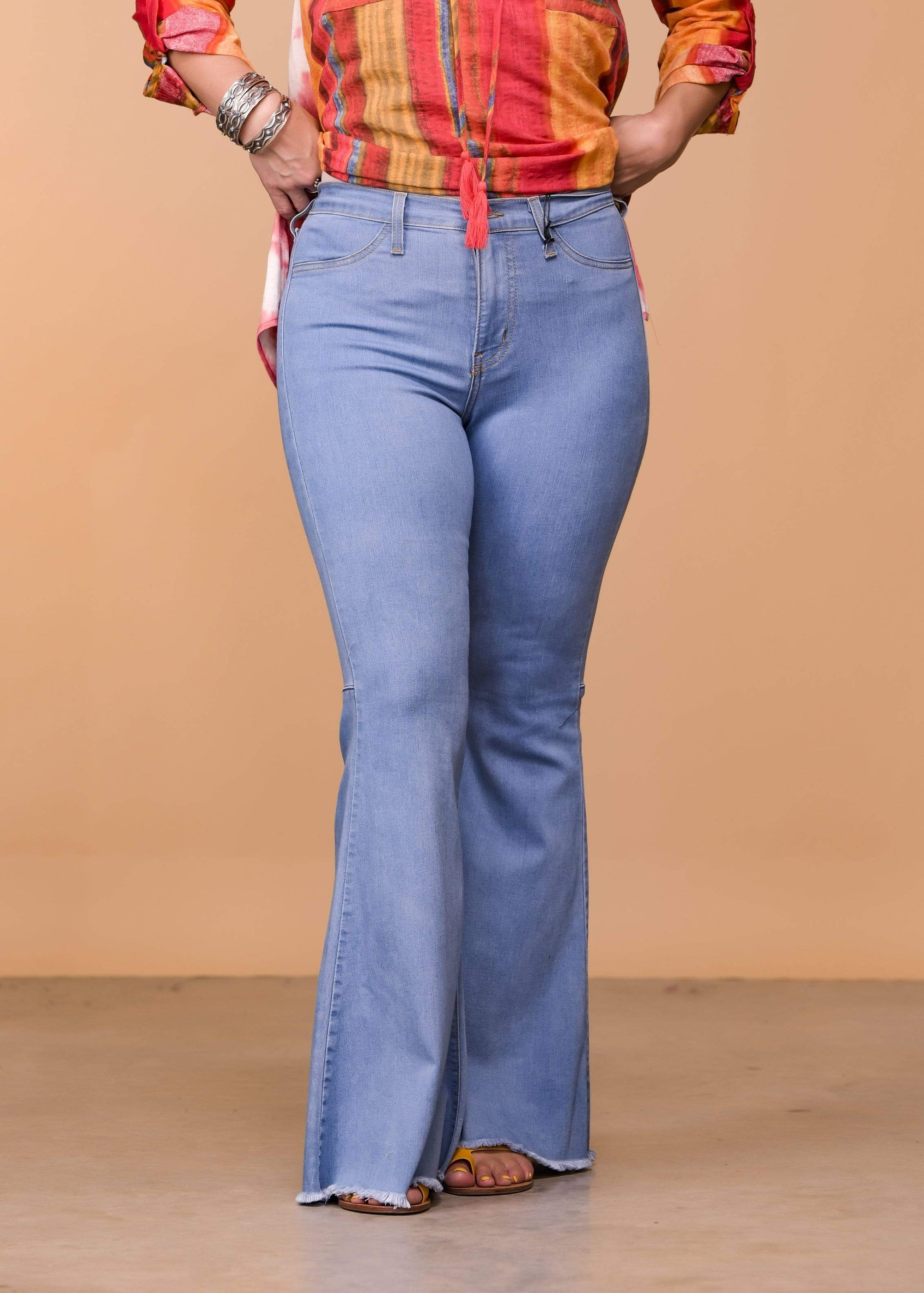 Judy Blue Full Length Hi Waist Super Flare - Light Wash