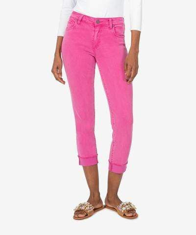 Kut from the Kloth Capris KUT Amy Cropped Straight Leg - Fuschia