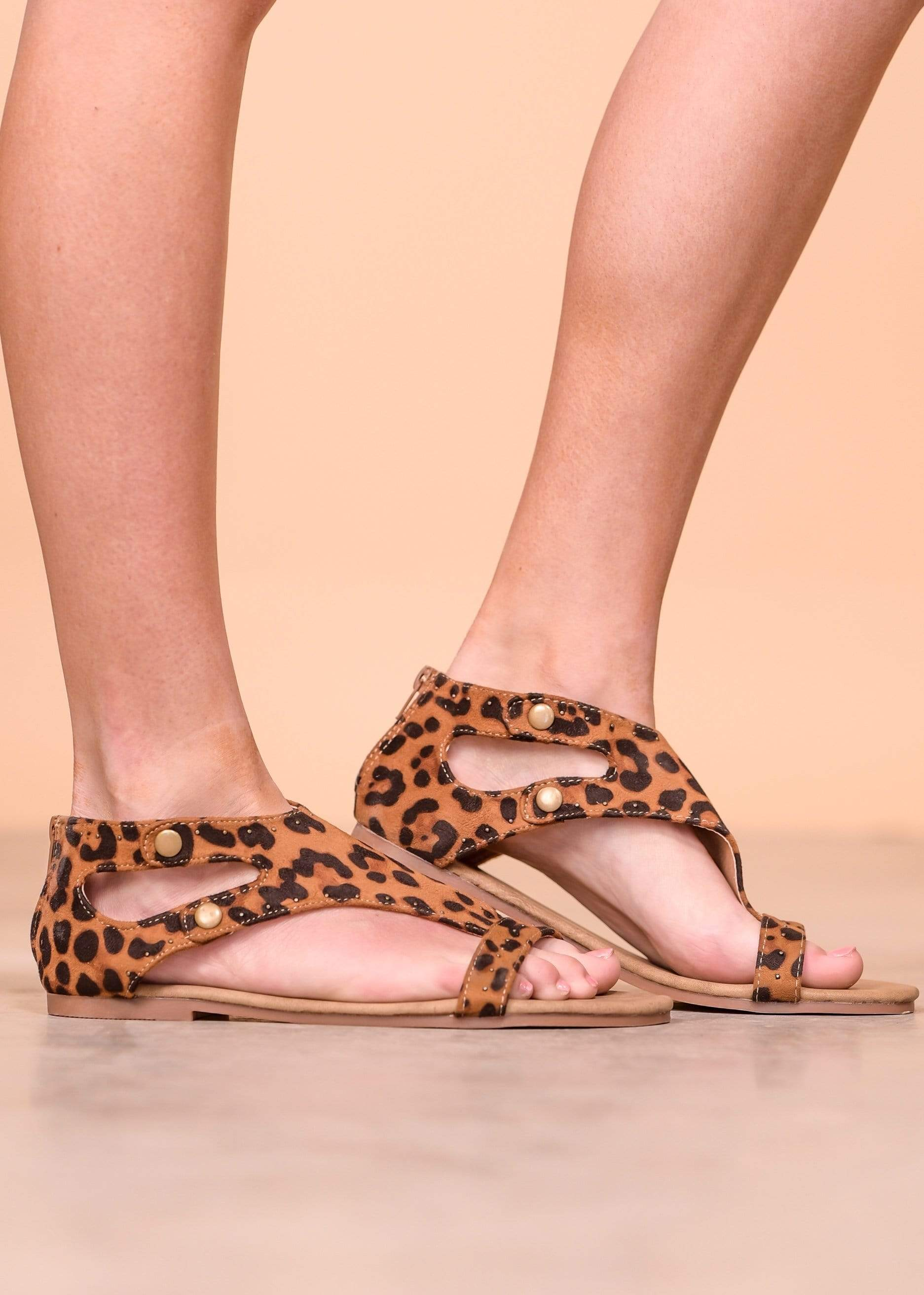 Mata Shoes Sandals Roman - Leopard
