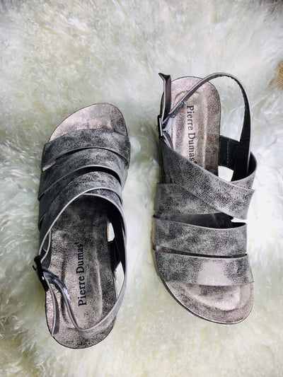 Pierre Dumas Wedges Pewter Platform Wedge