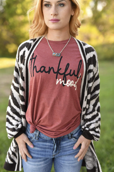 Prickly Pear Texas Graphic Tees Thankful Mood Graphic Tee