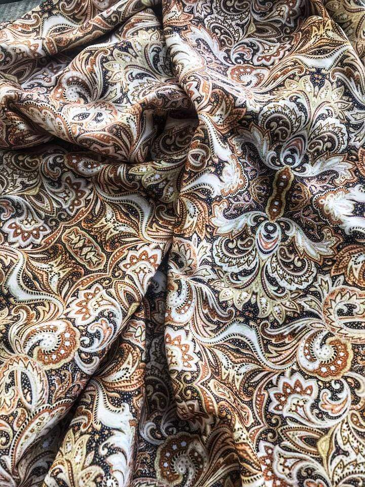 Brown Paisley Wildrag- Paisley
