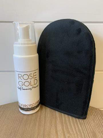 Rose Gold Self Tanner Beauty Rose Gold Sunless Tanner + Mitt