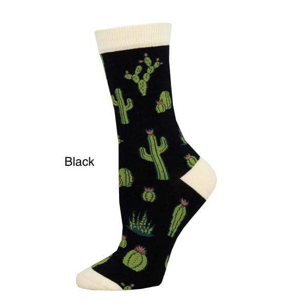 Socksmith Socks BLACK King Cactus Women's Socks - Ivory And Black