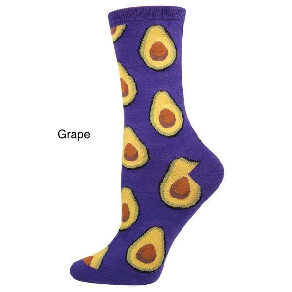 Socksmith Socks GRAPE Avocado Women's Socks - Parrot Green And Grape