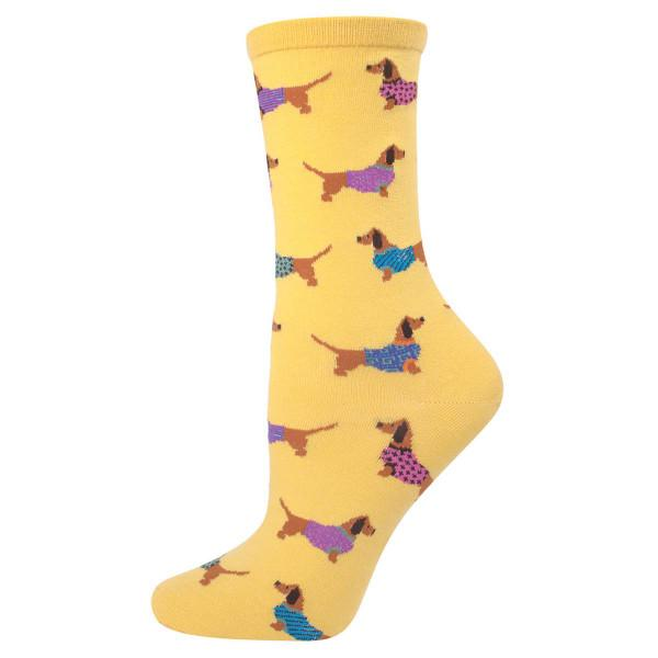 Haute Dog Women's Socks - Mimosa Yellow