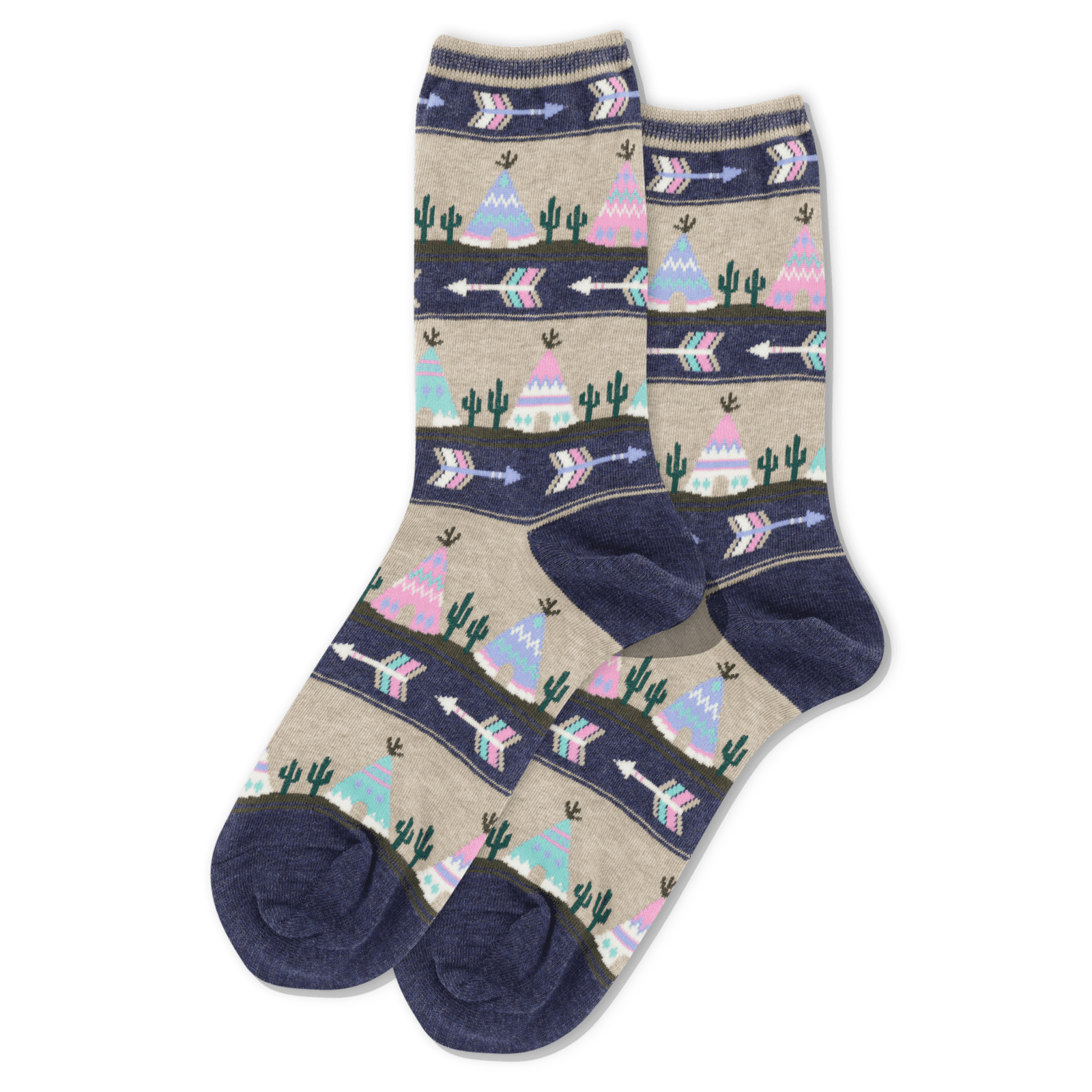 Socksmith Socks Teepee & Arrows-Navy