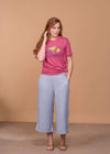 Staccato Capris Tencel Wide Leg Capris - Light Wash