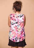 Staccato Floral Round Neck Sleeveless