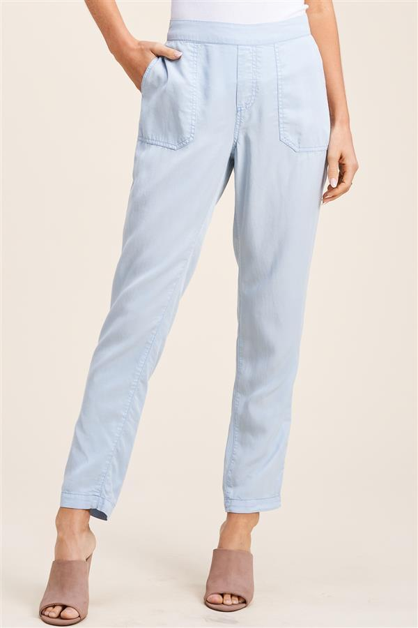 Elastic Waist Pants - Chambray