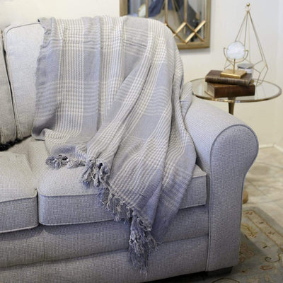 The Royal Standard Accessories Specialty Oslo Throw In Gray