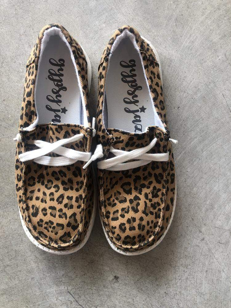 Hooray Leopard Slip On Shoes