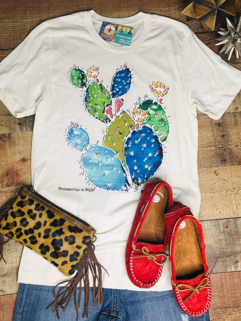 XOXO Graphic Tees Colorful Cactus T-shirt