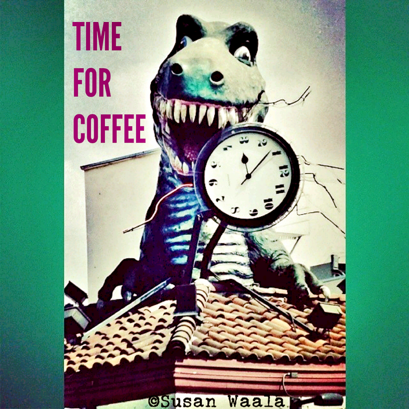 5x5 Coffee Card * Dino Clock