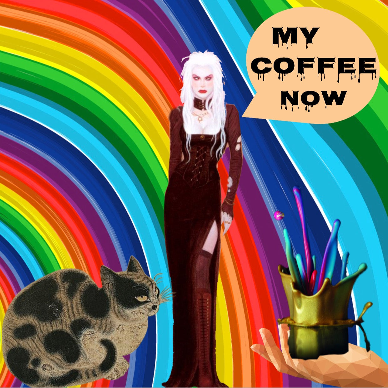5x5 Coffee Card * Rainbow
