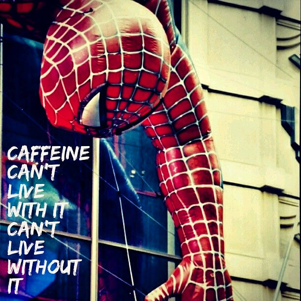 5x5 Coffee Card * Spidey Caffeine