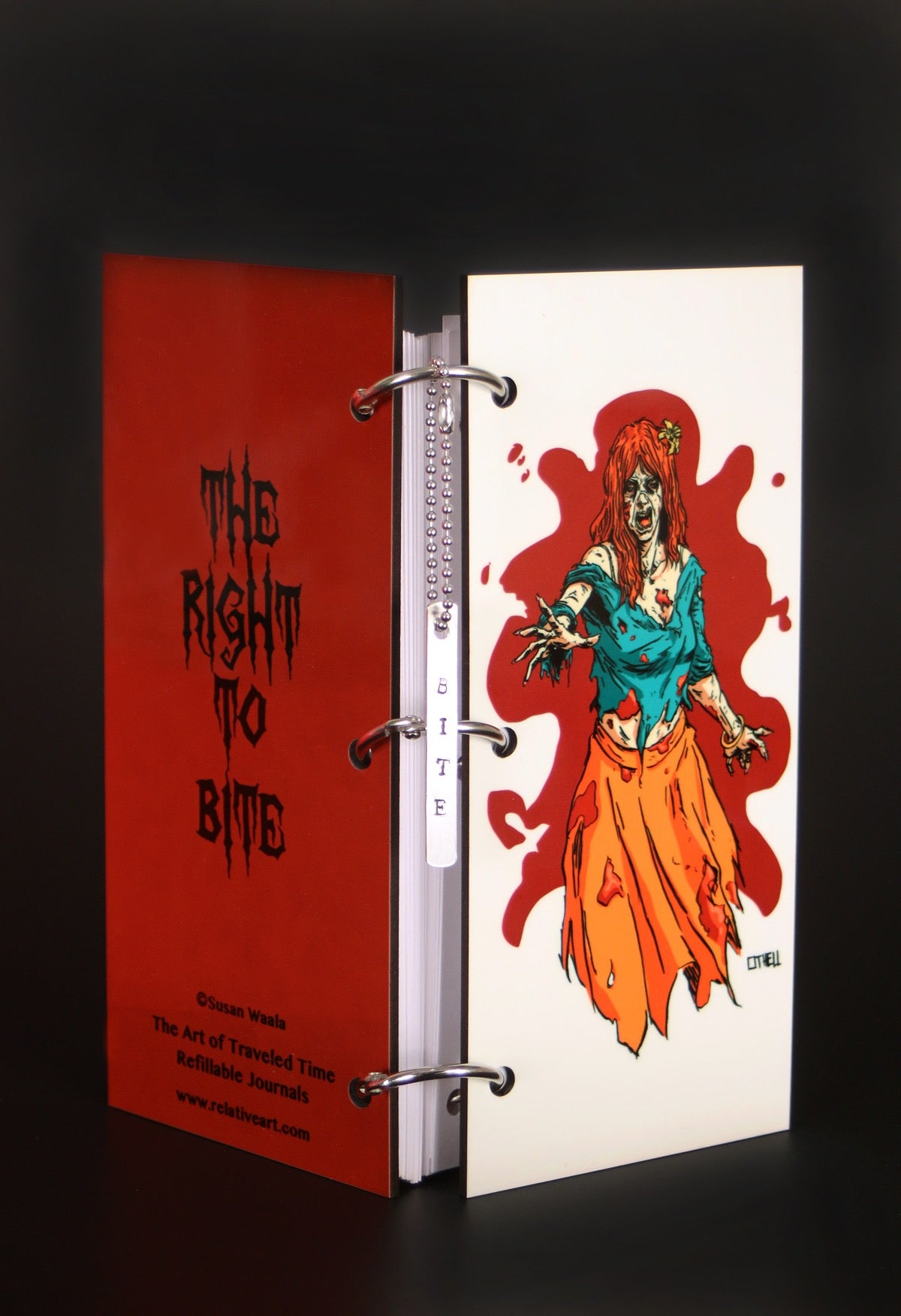 Girl Zombie White Splat Journal