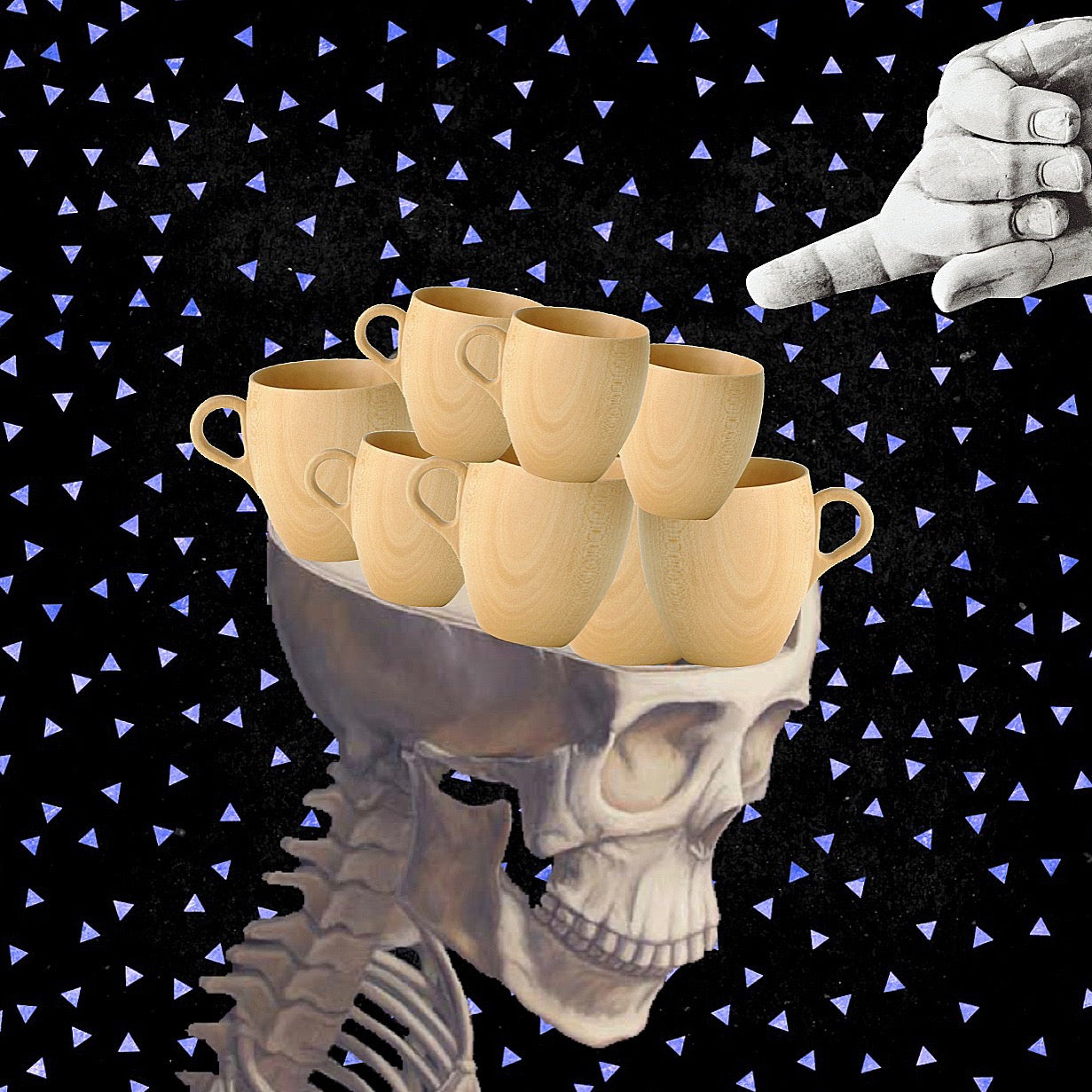 5x5 Coffee Card * Skull Cups