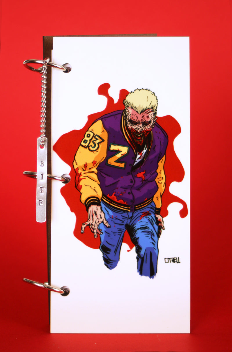 Zombie Jock White Journal Splat