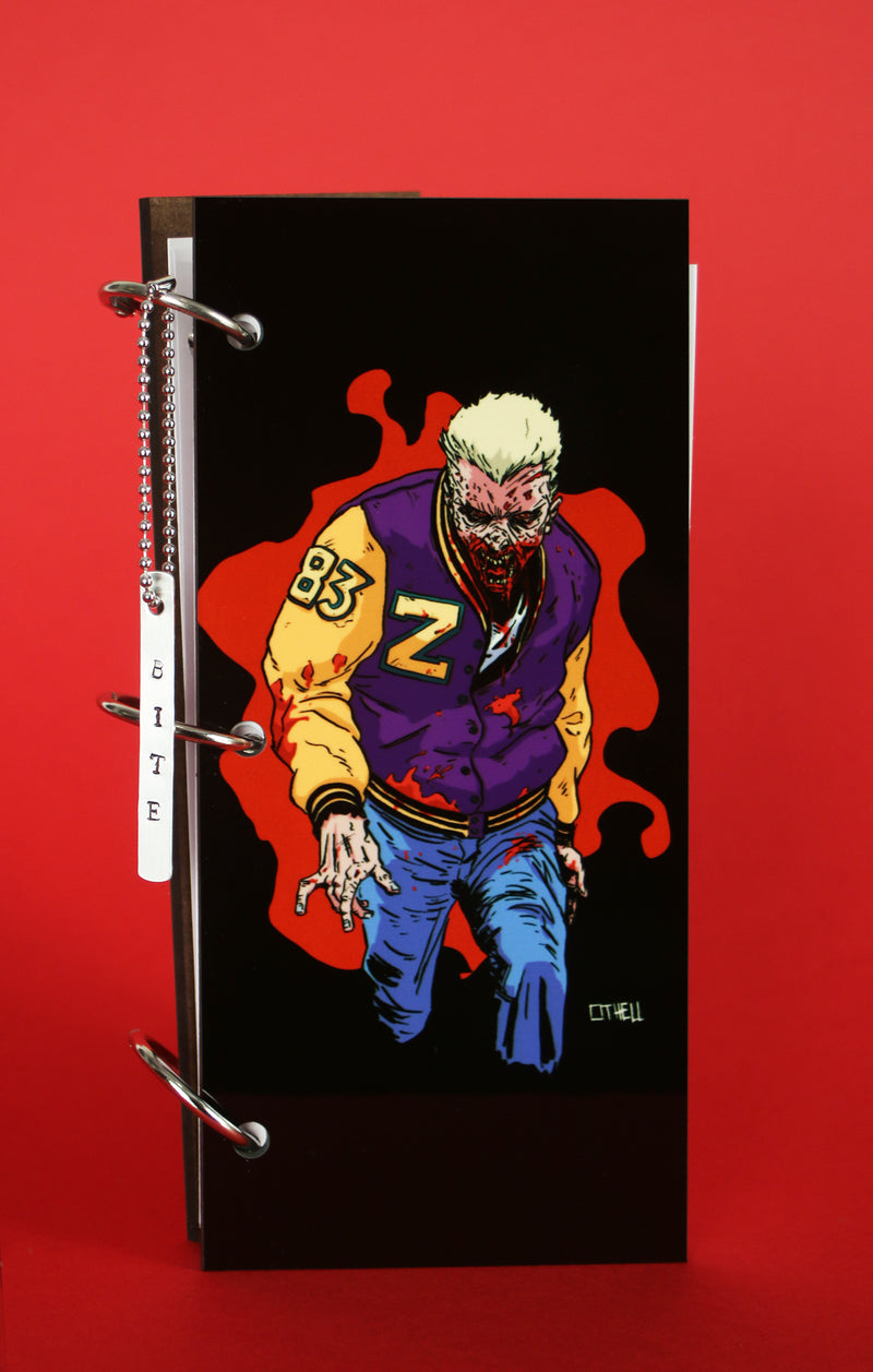 Zombie Jock Splat Black Journal