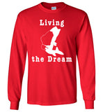 01020101 Living the Dream Fishing Long Sleeve T-Shirt