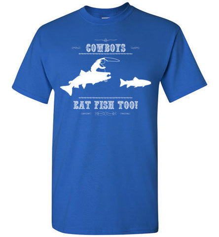 03010103 Cowboys Eat Fish Too! Children's T-Shirt