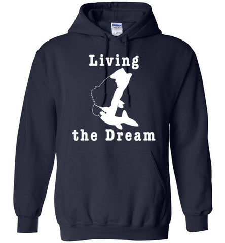 01040104 Living the Dream Fishing Hoodie