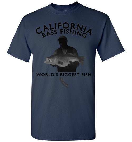 02010301 California Bass Fishing T-Shirt