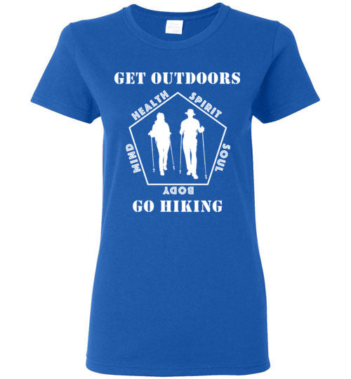 09010102 Get Outdoors Go Hiking Ladies T-Shirt