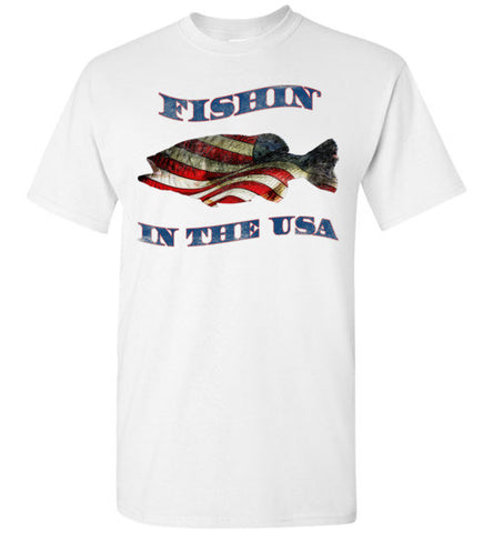 07010203 Fishin' In the USA Children's Fishing T-Shirt
