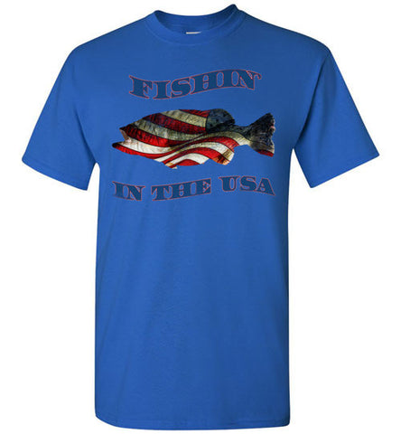 07010201 Fishin' In the USA Fishing T-Shirt