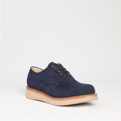 suede oxford with vibram sole. Made in the USA