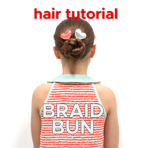 hair tutorial for girls: braid bun