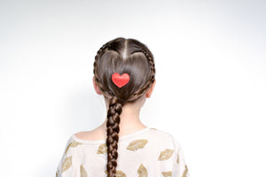 hair tutorial: double heart braid
